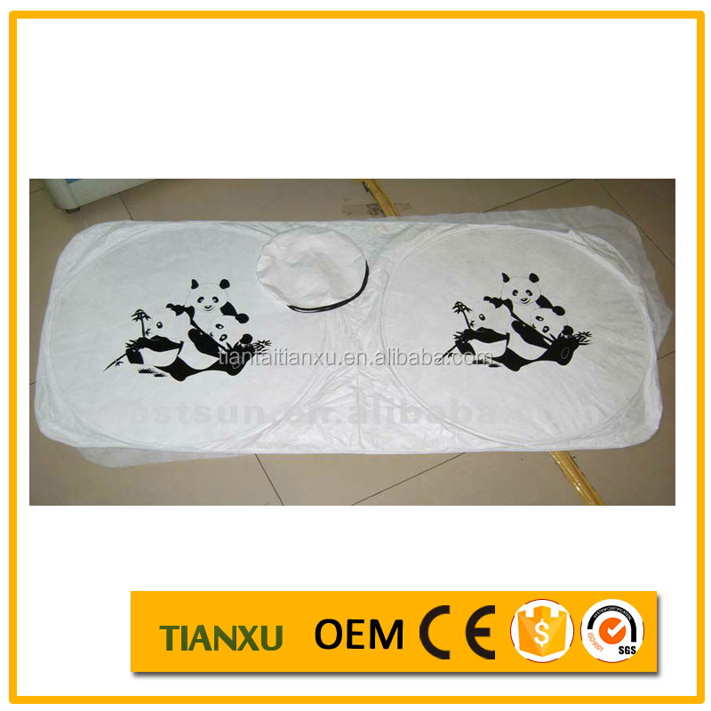 tyvek material windshield cover car parking shade for front window