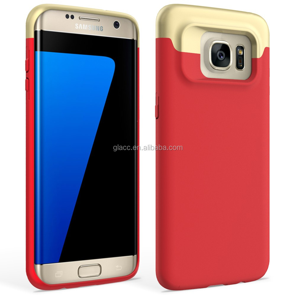 China facotory wholesale custom cell phone 2piece pc case for sumsung galaxy s7