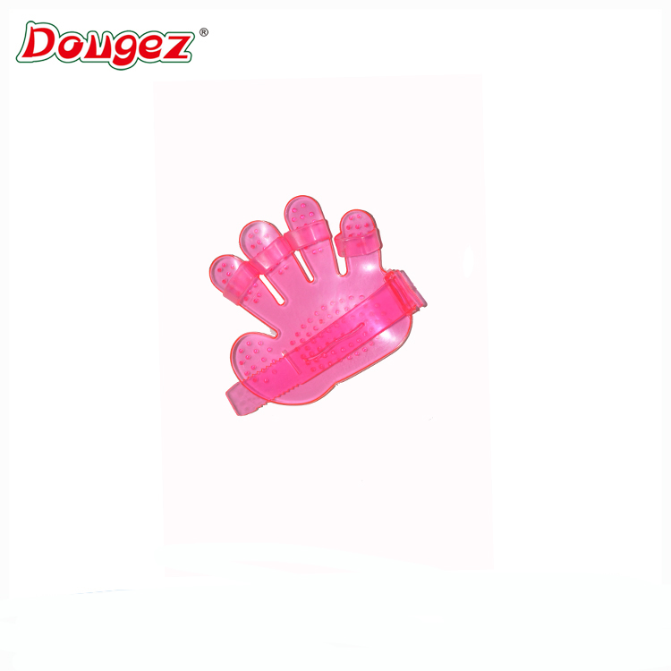 Good quality Crystal Palm Shape Pet Bath Massage Brush wholesale Pet Finger Washing Brush
