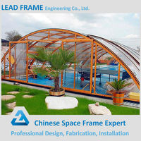 Light steel swimming pool enclosures cover structure