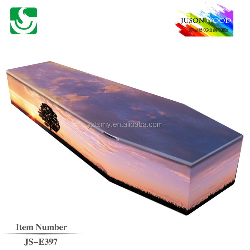 European style wooden funeral plastic handle coffins and caskets