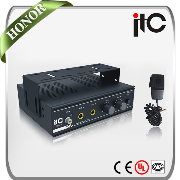 TQ-40 Stylish Dual Channel 40W 4 ohm Mini Car Audio Amplifier