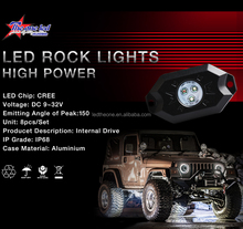 Jeep Wrangler Part ATV UTV SUV RZR 4 Pods Kit 4x4 Led rock lights remote controlled Bluetooth led tail dome light RGB Multicolor