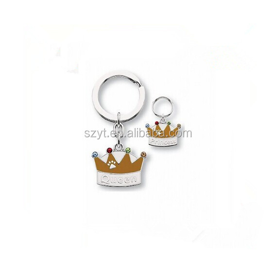 imperial crown shape key holder/engraving logo wood key chain