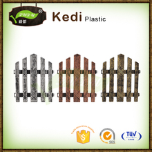 Save 10% free sample premium Pvc plastic small fence vegetable lightweight garden fence