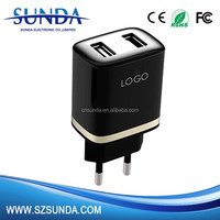 2016 new design wholesale dual usb wall charger 5v 2.1a 2.4a