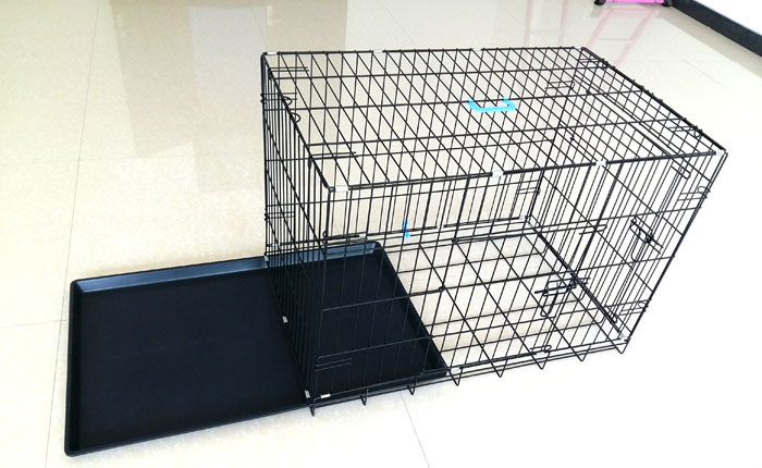 high quality hot sell in USA pet dog cage kennel black color