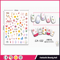 Best Selling products Nail Art designs Translucent flowers 3D self adhesive Nail sticker