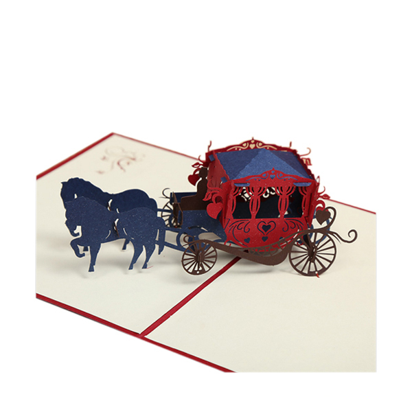 Retro Wedding Carriage Greeting Card Paper <strong>Crafts</strong>