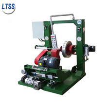 Tire retreading and grinding machine, retreading wheel, cold turning and inflating type sander
