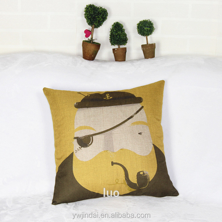 2016 New Style Set Cushion The Bulk Of Sherlock Holmes Style Eyed Character Pillows Covers Furnishing Printing