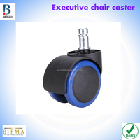 "China conventional cheap 2"" nylon&PU rubber executive chair steel caster wheel"