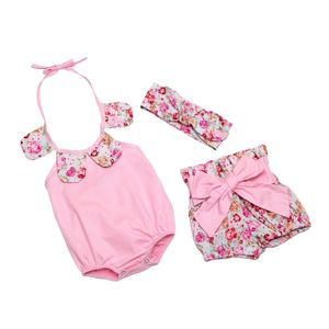 newborn baby girls summer clothes knitted cotton kids outfits