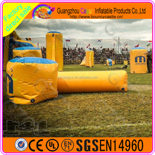 Green field equipment yellow inflatable air paintball