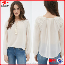 New Collection Loose Long Sleeved Chiffon blouse women