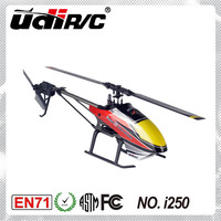 UDIRC I250 Single Rotor Blade (Flybarless) Electric 6CH Helicopter RC model