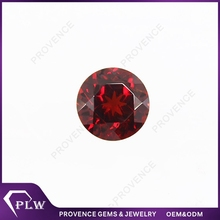 Wholesale Price Small Size Round Brilliant Cut Rose Red Garnet Stone