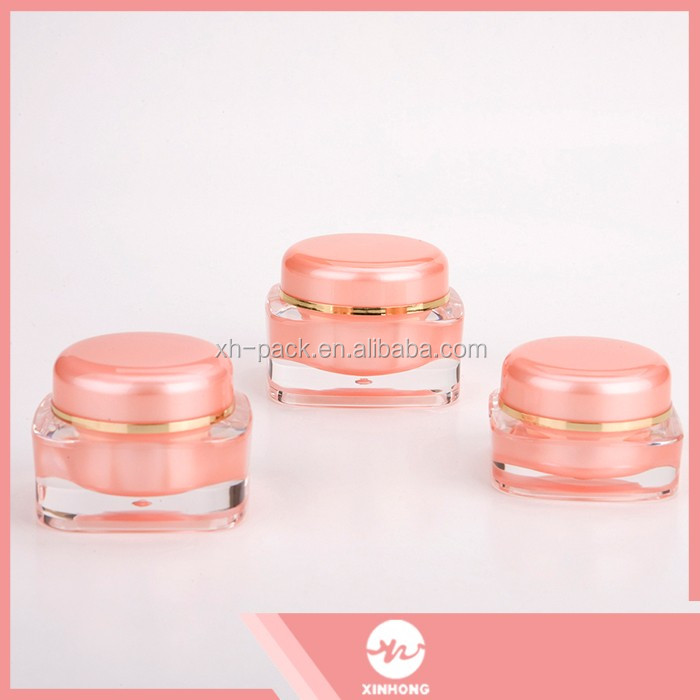 Fast delivery exceptional acrylic cream jar cosmetic packaging cosmetic jar