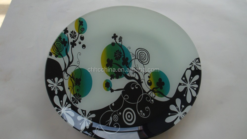 Fruit plates tempered oval glass plates / turkish glass plate