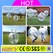 Football inflatable body zorb ball,Crazy inflatable belly bump ball, Bumper bubble ball suit