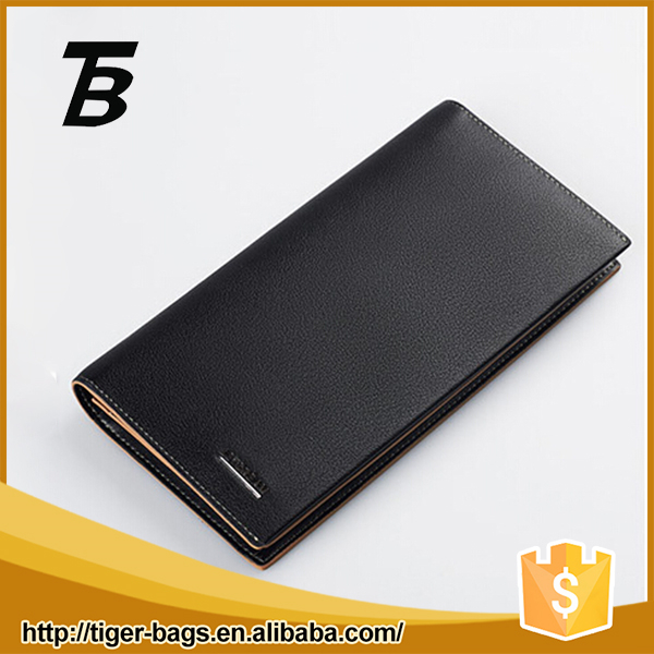 China factory supplier business style black exquisite new leather wallet
