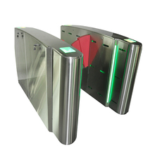 Access control turnstile swipe rfid cards electronic flap barrier gate