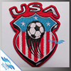 Merrowed football patches, Soccer teams embroidery clothing patch with logo iron on design