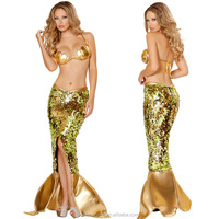 2016 Halloween Carnival party princess nude sexy mermaid mascot party costumes