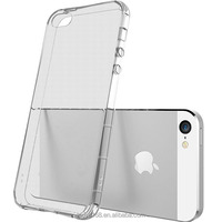 Clear Silicone phone cover for iPhone5 4inch crash proof case for iphone se KOOLIFE Crystal