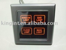 Hotel system, low power touch screen light switch