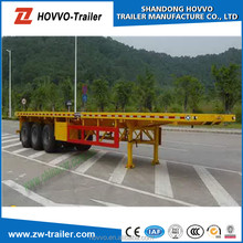 3 axle container chassis semi trailer or container flatbed semi trailer or bed design trailer