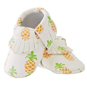 Soft Sole Pineapple Vegan Baby Moccasins shoes girls and boys