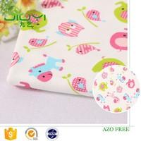 new design healthy custom cartoon print interlock cotton fabric price per yard