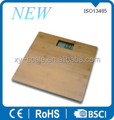 Hot sales nature bamboo platform digital weighing scale from China supplier