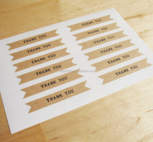 High Quality Hot Sale Brown Paper Sticker