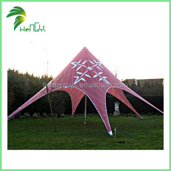 High Quality Useful Popular Customized Printing Outdoor Function Star Shape Tent