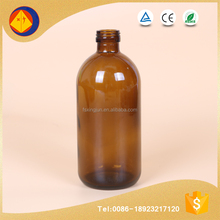 Wholesale lug cap 500ml pharmaceutical amber glass bottle