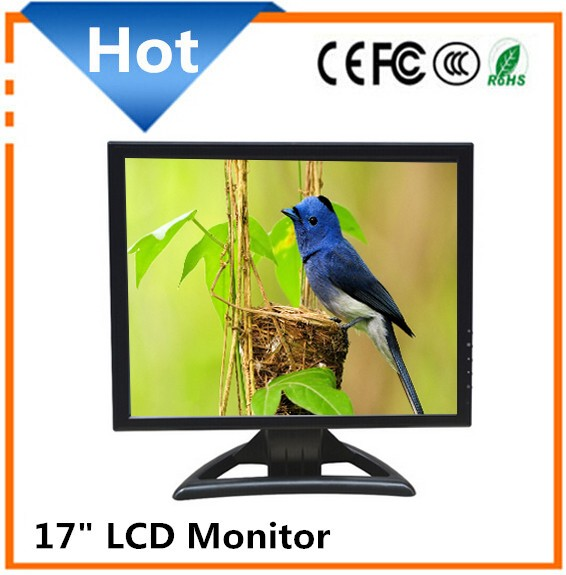Hot selling 17 inch lcd/led monitor desktop computer monitor with vga