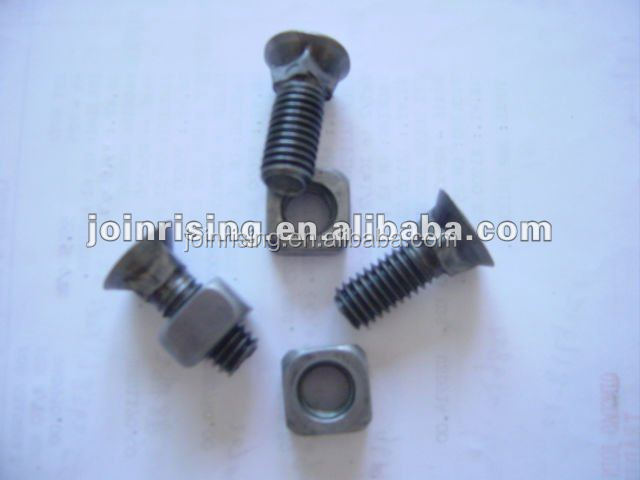 Mild steel flat head square neck plough bolts with square nuts