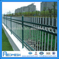 Decorative White PVC/Powder Coated Metal Yard Guard Fence / PVC White Steel Picket Fence (WEIAN,ISO9001:2008)