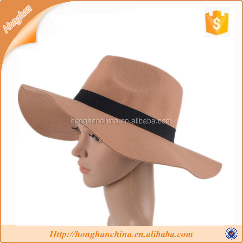 Innocent girls polyester decorate fedora hat