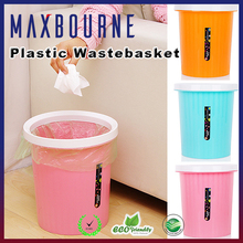 hotselling home decoration plastic paper waste basket