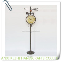 outdoor grandfather clock with weathervane