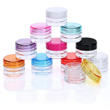Beauty Containers Small Plastic Cosmetic Jars 5 Gram Lip Balm Pot Black Lids
