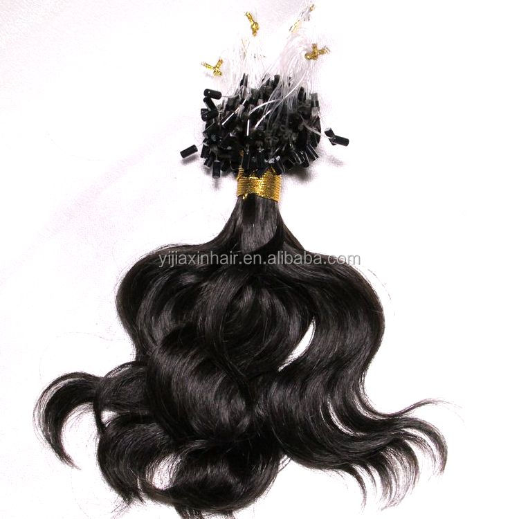 Wholesale prebonded hair high quality cheap kinky curly micro ring bead loop hair extension
