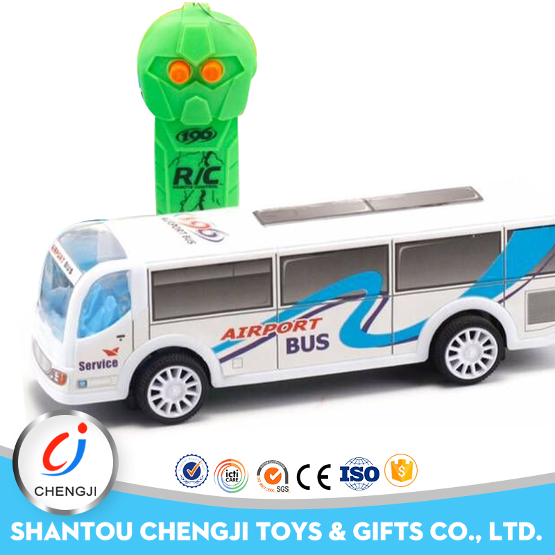 Hot sale novelty 2 channel high speed rotation special toy model bus rc with light