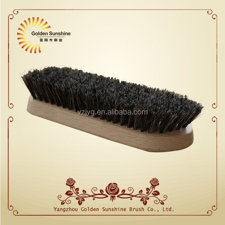 wooden suede shoe cleaning brush with PP and brass