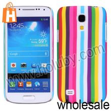 Oil Coated Matte Ruber Hard Case For Samsung i9190 Galaxy S4 Mini(Rainbow Stripes)