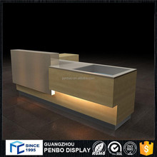 Hot quality wooden modern cafe home bar counter design