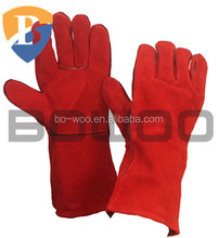 Wholesale cow split leather welding gloves with long cuff